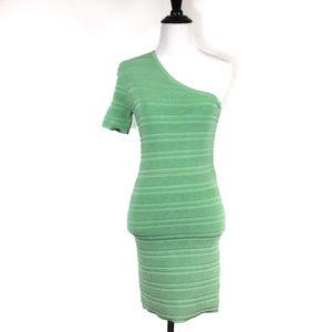 Torn by Ronny Kobo Mint Green One-Shoulder dress